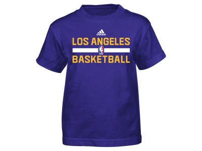 Los Angeles Lakers adidas NBA Youth Practice Wear Graphic T-Shirt
