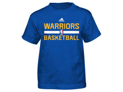 Golden State Warriors adidas NBA Kids Practice Wear Graphic T-Shirt