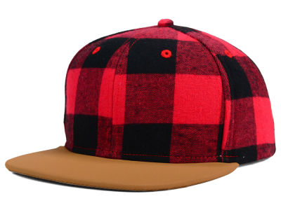 Buffalo Plaid Snapback Hat