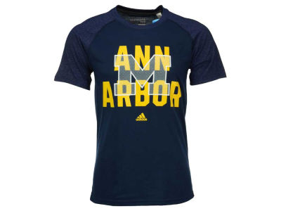 Michigan Wolverines adidas NCAA Men's Arched Dot Ultimate Raglan T-Shirt
