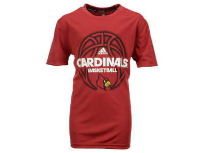 Louisville Cardinals adidas NCAA Youth Fired Up Short Sleeve Clima T-Shirt