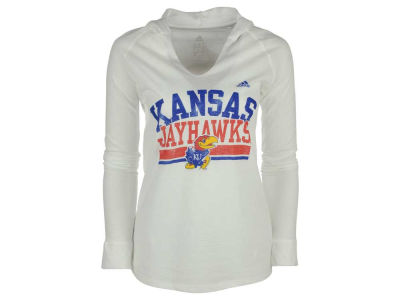 Kansas Jayhawks adidas NCAA Women's Collegiate Weathering Hooded Long Sleeve