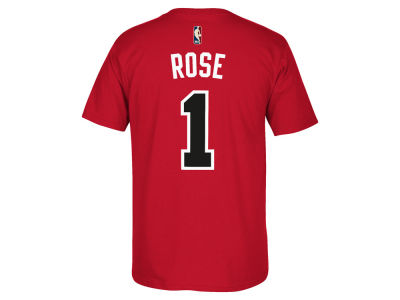 Chicago Bulls Derrick Rose adidas NBA Men's HWC Logo Tri-Blend Crew T-Shirt