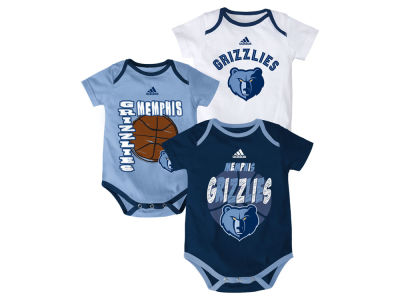 Memphis Grizzlies NBA Newborn 3 Point Play Creeper Set