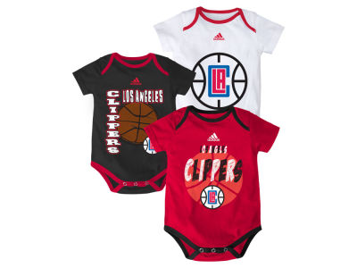 Los Angeles Clippers NBA Infant 3 Point Spread Bodysuit Set