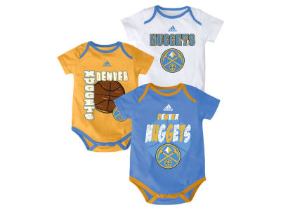Denver Nuggets NBA Infant 3 Point Spread Bodysuit Set
