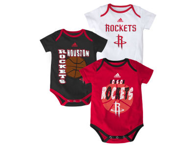 Houston Rockets NBA Infant 3 Point Spread Bodysuit Set