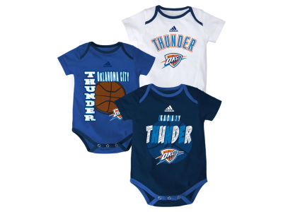 Oklahoma City Thunder NBA Infant 3 Point Spread Bodysuit Set