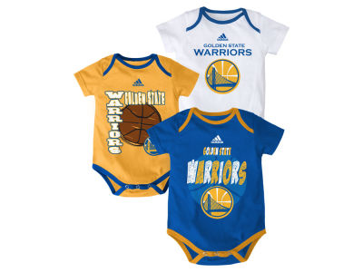 Golden State Warriors NBA Infant 3 Point Spread Bodysuit Set
