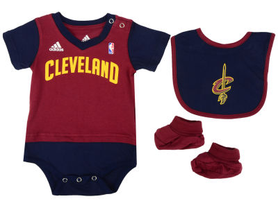 f02f074ab7a ... Cleveland Cavaliers NBA Newborn Creeper Bib Bootie Set Baby-Infant- toddler-NBA-Jersey-Romper-Jumpsuit-Cleveland- ...