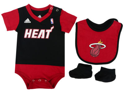 Miami Heat NBA Newborn Creeper Bib & Bootie Set