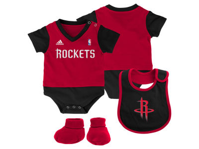 Houston Rockets NBA Newborn Creeper Bib & Bootie Set