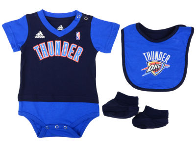 Oklahoma City Thunder NBA Newborn Creeper Bib & Bootie Set