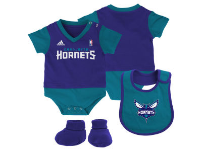 Charlotte Hornets NBA Infant Creeper Bib & Bootie Set