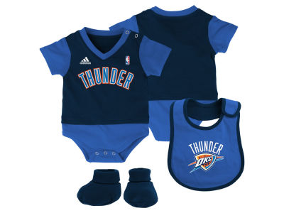 Oklahoma City Thunder NBA Infant Creeper Bib & Bootie Set