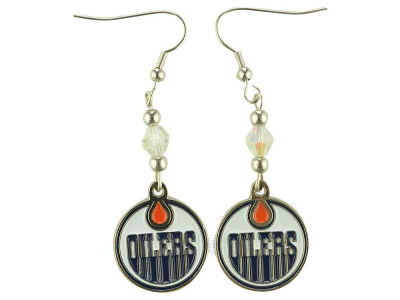 Edmonton Oilers NHL Crystal Dangle Earrings
