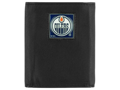 Edmonton Oilers Leather Tri-Fold Wallet