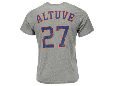 Houston Astros Jose Altuve Majestic MLB Men's Triblend Jersey Player T-Shirt