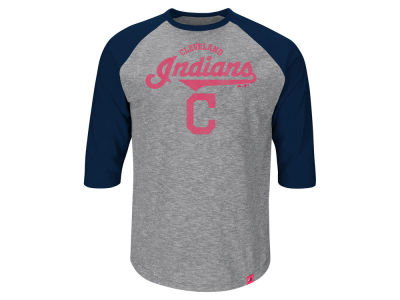 Cleveland Indians Majestic MLB Men's Fast Win Raglan T-Shirt