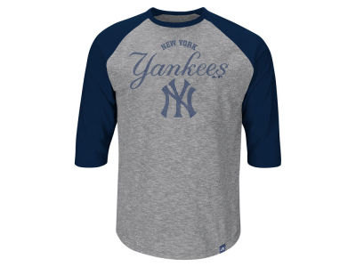 New York Yankees Majestic MLB Men's Fast Win Raglan T-Shirt