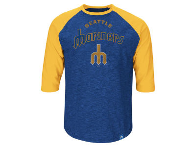 Seattle Mariners MLB Men's Fast Win Raglan T-Shirt