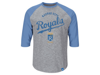 Kansas City Royals George Brent Majestic MLB Men's Player Tactics Raglan T-Shirt