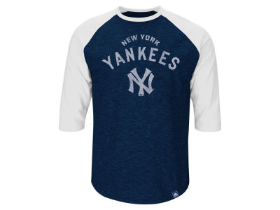 New York Yankees Babe Ruth Majestic MLB Men's Player Tactics Raglan T-Shirt