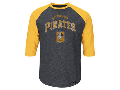 Pittsburgh Pirates Roberto Clemente Majestic MLB Men's Player Tactics Raglan T-Shirt
