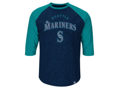 Seattle Mariners Ken Griffey Jr. Majestic MLB Men's Player Tactics Raglan T-Shirt
