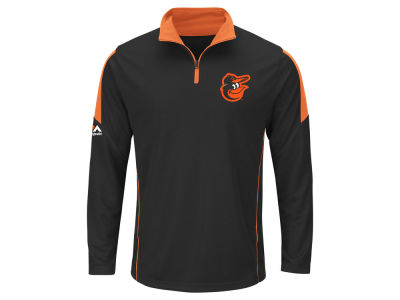 Baltimore Orioles MLB Men's Status Inquiry Half Zip Long Sleeve Pullover