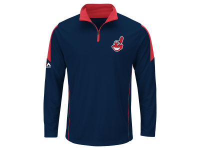 Cleveland Indians MLB Men's Status Inquiry Half Zip Long Sleeve Pullover
