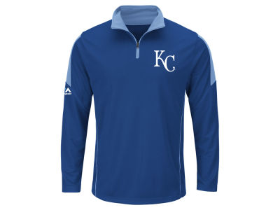 Kansas City Royals MLB Men's Status Inquiry Half Zip Long Sleeve Pullover