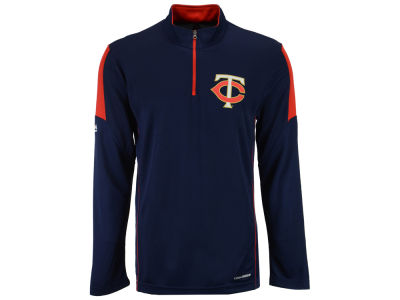 Minnesota Twins MLB Men's Status Inquiry Half Zip Long Sleeve Pullover