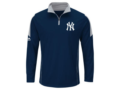 New York Yankees MLB Men's Status Inquiry Half Zip Long Sleeve Pullover