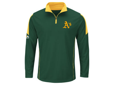 Oakland Athletics MLB Men's Status Inquiry Half Zip Long Sleeve Pullover