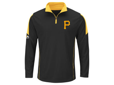 Pittsburgh Pirates MLB Men's Status Inquiry Half Zip Long Sleeve Pullover