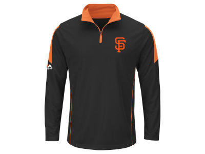 San Francisco Giants MLB Men's Status Inquiry Half Zip Long Sleeve Pullover