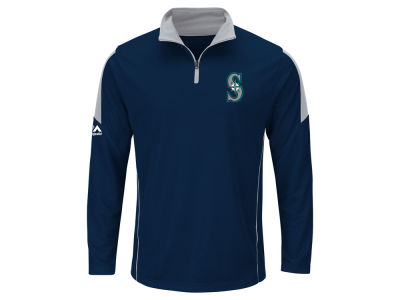 Seattle Mariners MLB Men's Status Inquiry Half Zip Long Sleeve Pullover