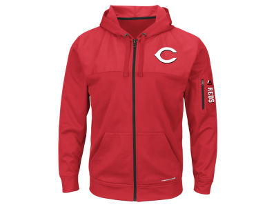 Cincinnati Reds MLB Men's Payback Moment Full Zip Fleece Hoodie