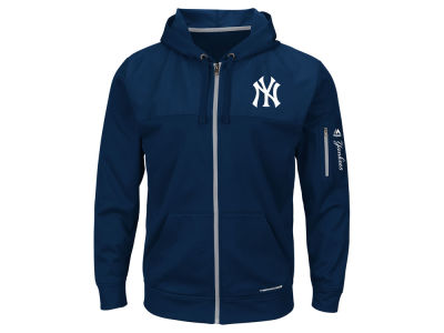 New York Yankees Majestic MLB Men's Payback Moment Full Zip Fleece Hoodie