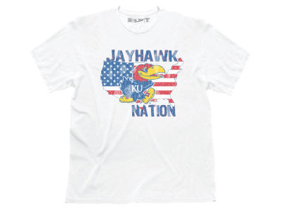 Kansas Jayhawks Retro Brand NCAA Men's Jayhawk Nation Americas Team T-Shirt