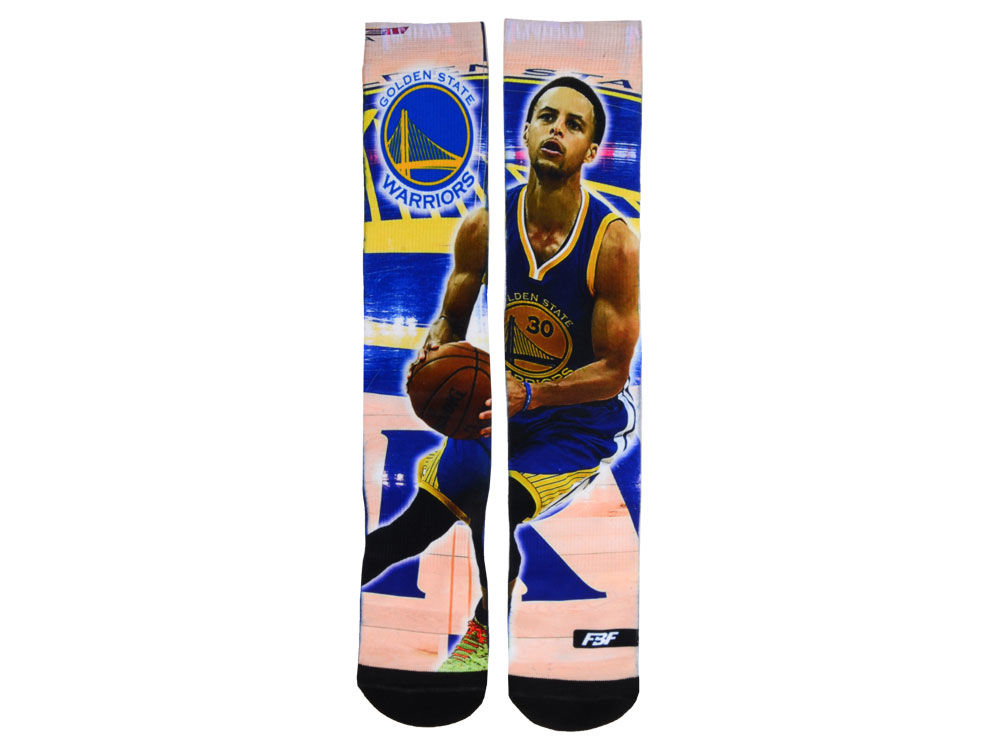 Golden State Warriors Stephen Curry For Bare Feet NBA Player Center Court  Socks - Golden State Warriors Stephen Curry For Bare Feet NBA Player