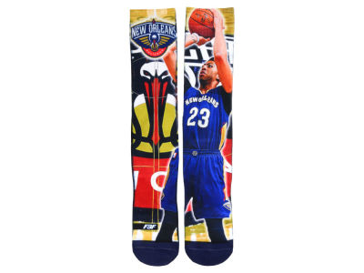 New Orleans Pelicans Anthony Davis NBA Player Center Court Socks