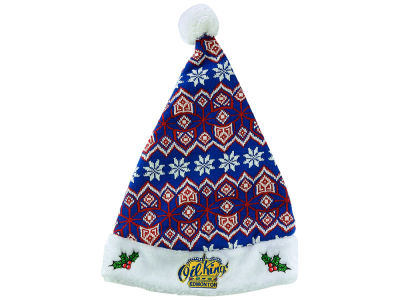 Edmonton Oil Kings Aztec Knit Santa Hat