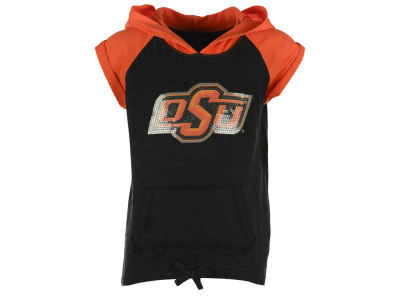 Oklahoma State Cowboys NCAA Youth Girls Jewel Short Sleeve Hoodie