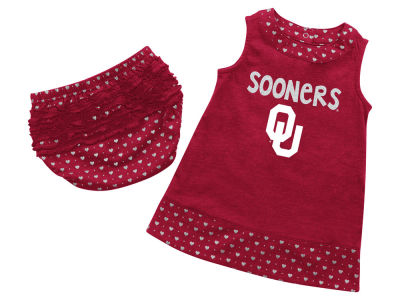 Oklahoma Sooners NCAA Newborn Girls Heartbeat Dress Set