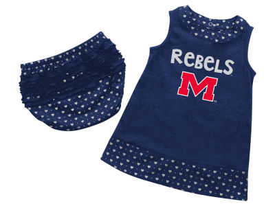 Ole Miss Rebels NCAA Newborn Girls Heartbeat Dress Set