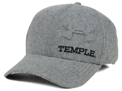Temple Owls Under Armour NCAA Grayout Stretch Cap