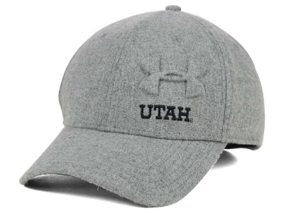Utah Utes Under Armour NCAA Grayout Stretch Cap