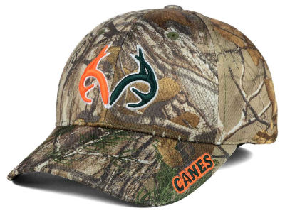 Miami Hurricanes Top of the World NCAA Realtree XB1 Camo Cap